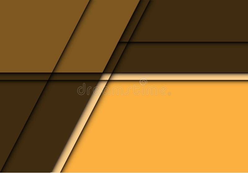 Place jaune abstraite de ton avec le vecteur futuriste moderne de fond de conception d'espace vide illustration stock