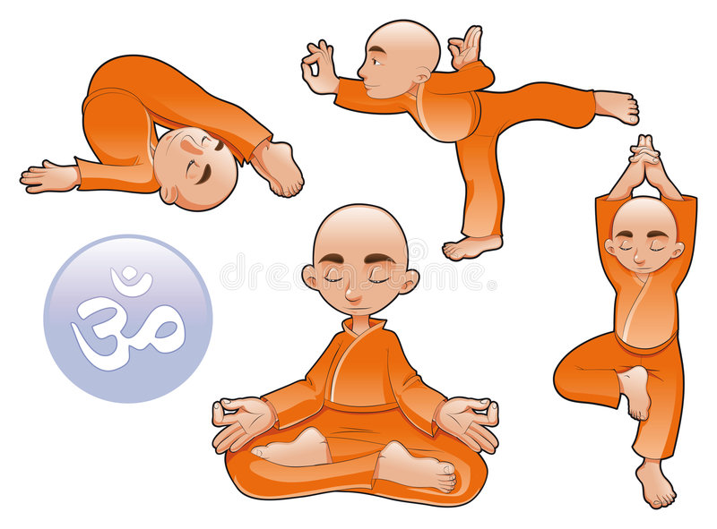 place le yoga illustration de vecteur