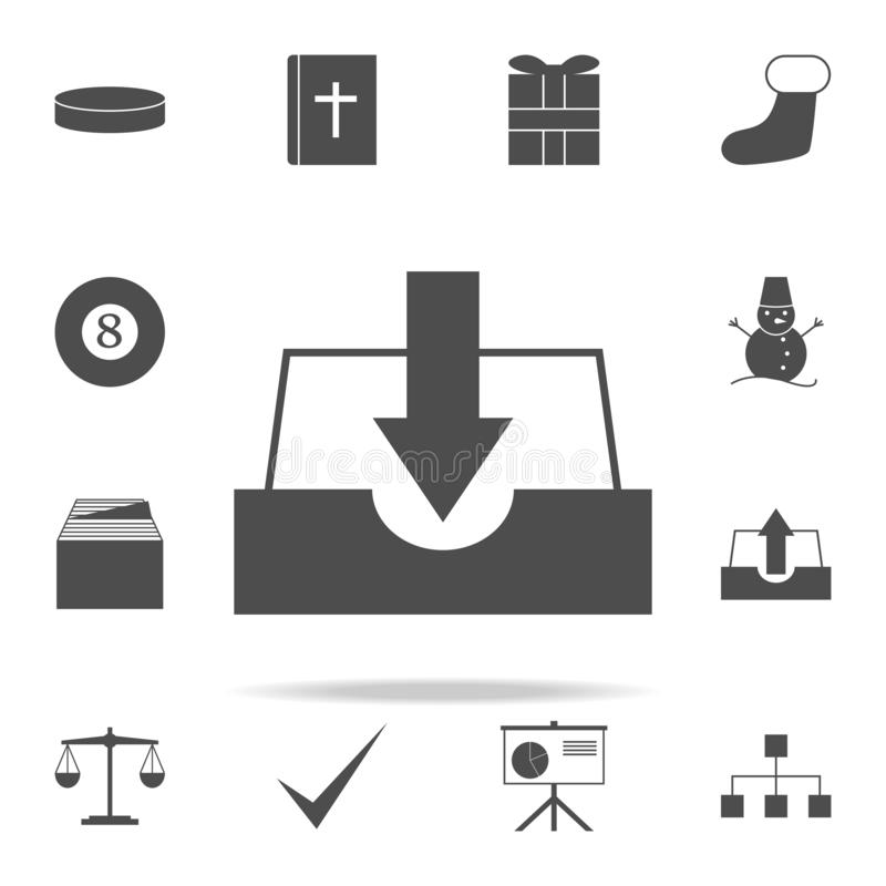 Place of loading paper icon. web icons universal set for web and mobile. On white background vector illustration