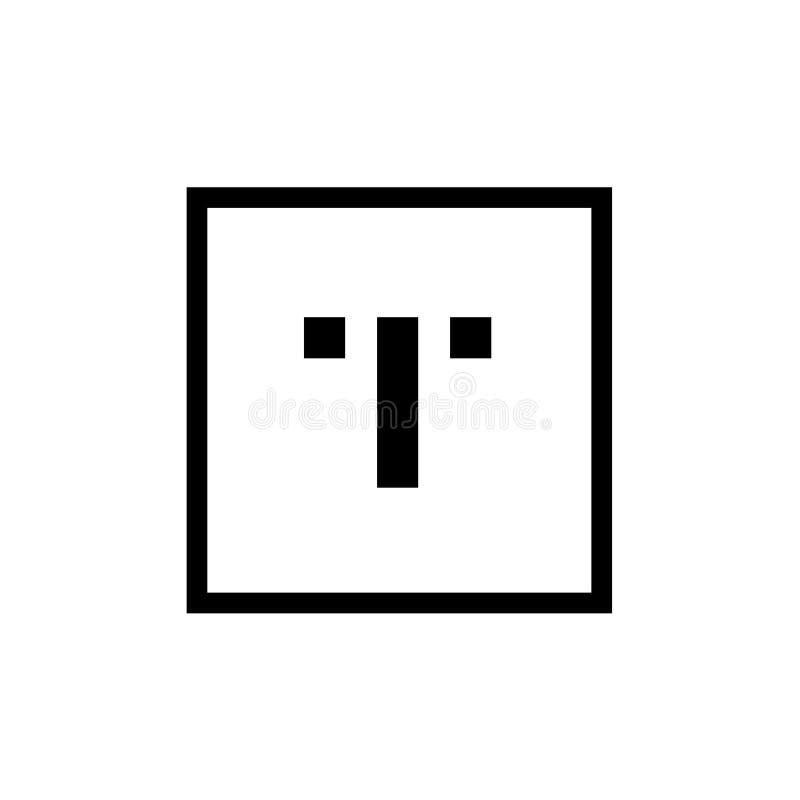 Place Logo Icon minimal, élément de calibre de conception - vecteur de la lettre T illustration de vecteur