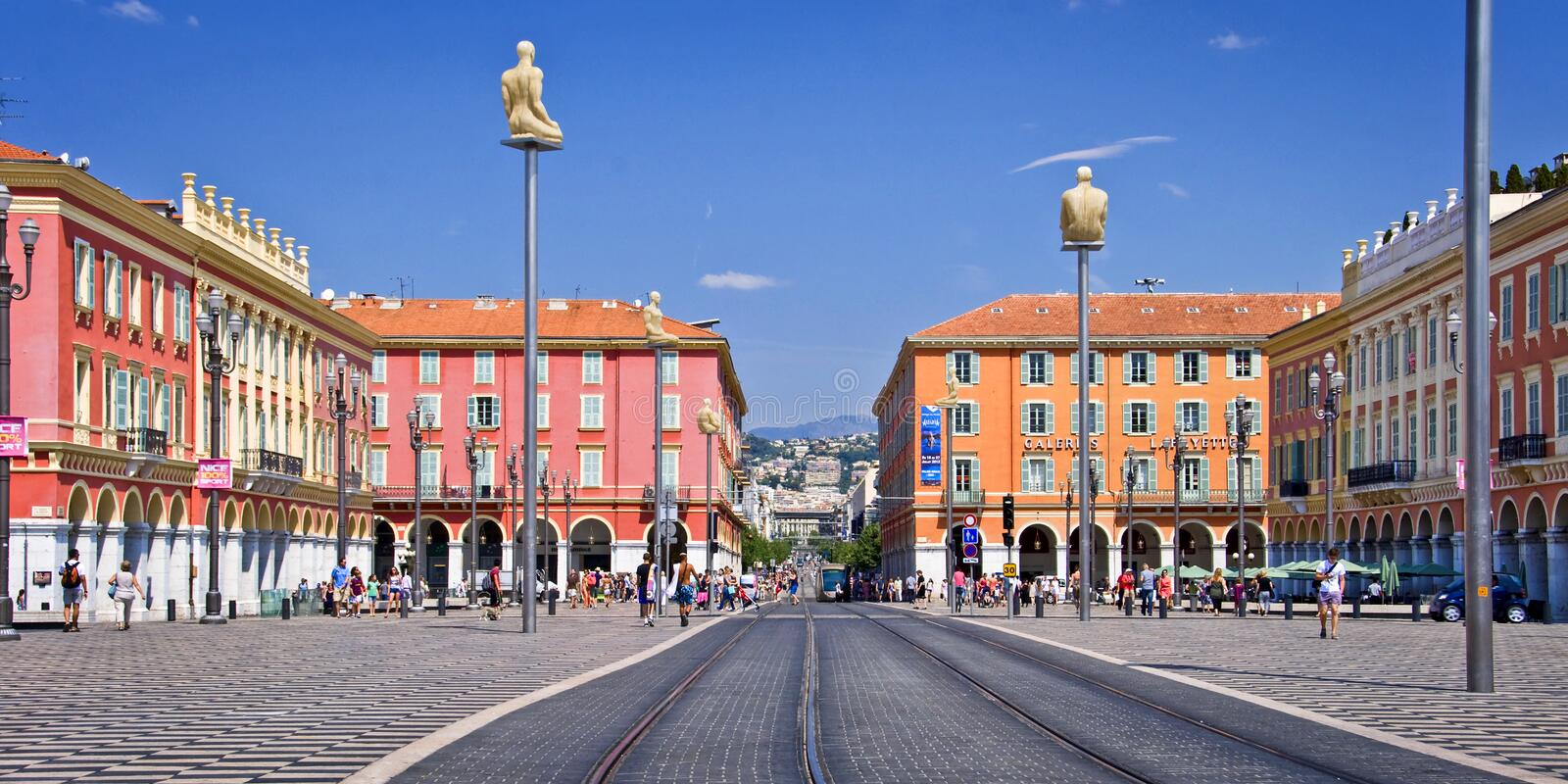 Place Massena in the city of Nice royalty free stock photo