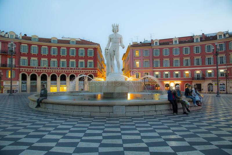 Place Massena, Nice royalty free stock photography