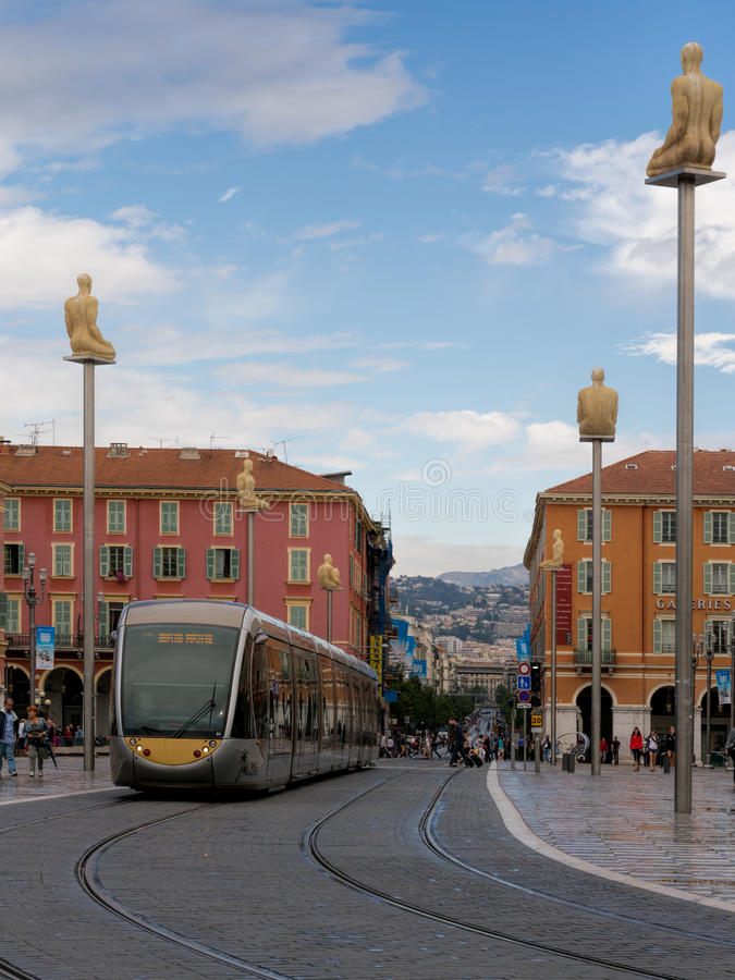 Download Place Massena,Nice, France With Modern Public Tran Editorial Photo - Image: 33792796