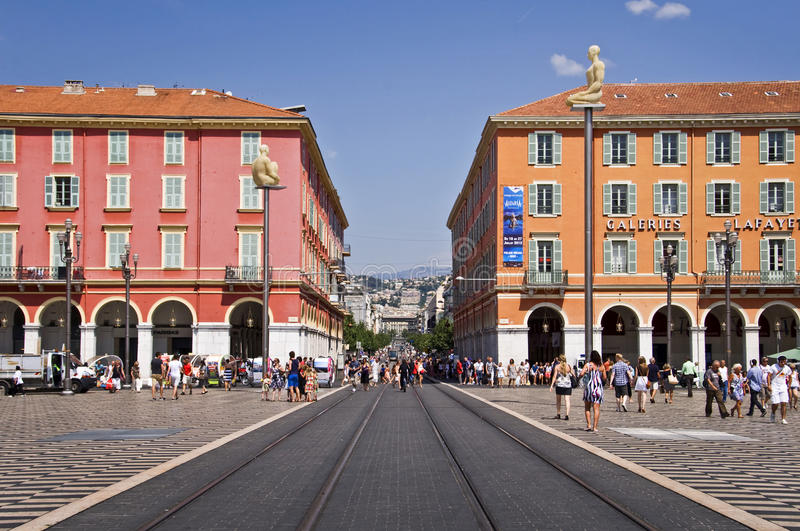 Place Massena, Nice, French riviera. France royalty free stock photo