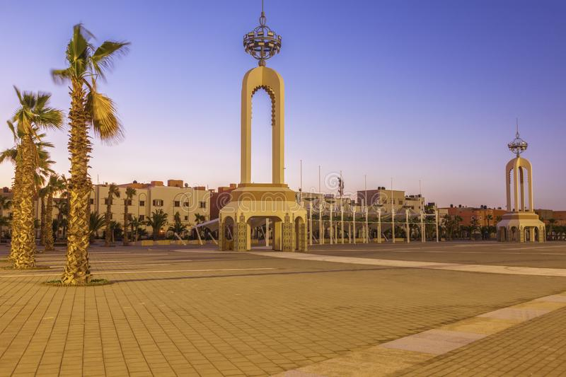 Place of Mechouar in Laayoune. Laayoune, Western Sahara, Morocco stock photography