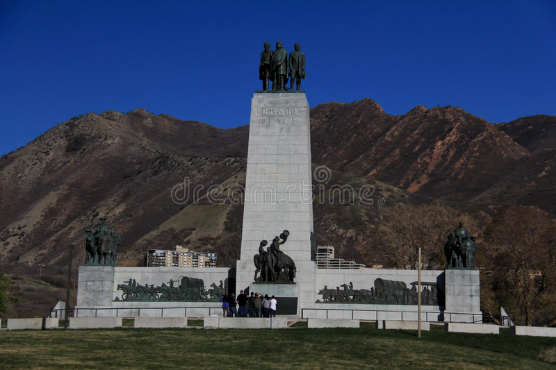 This is the Place Monument. An image of This is the Place Monument in Salt Lake City, Utah royalty free stock images