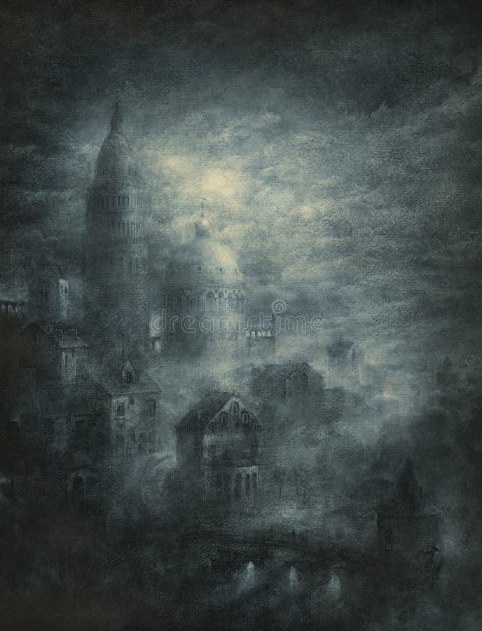 Place mystérieuse illustration de vecteur