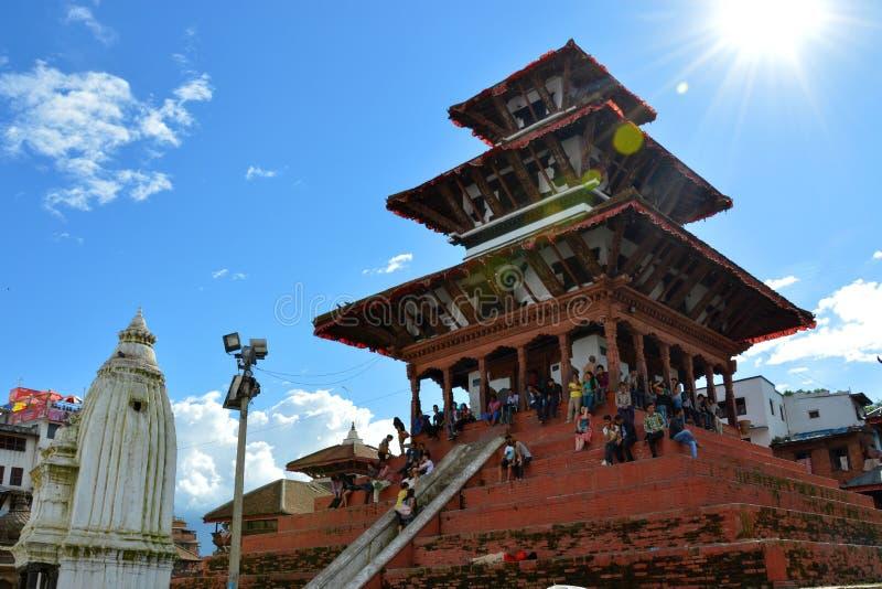 Place népalaise de Durbar image libre de droits
