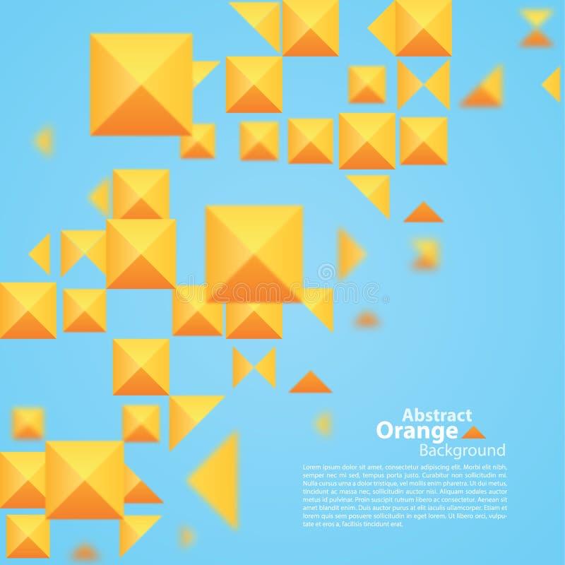Place orange abstraite sur un fond bleu illustration stock