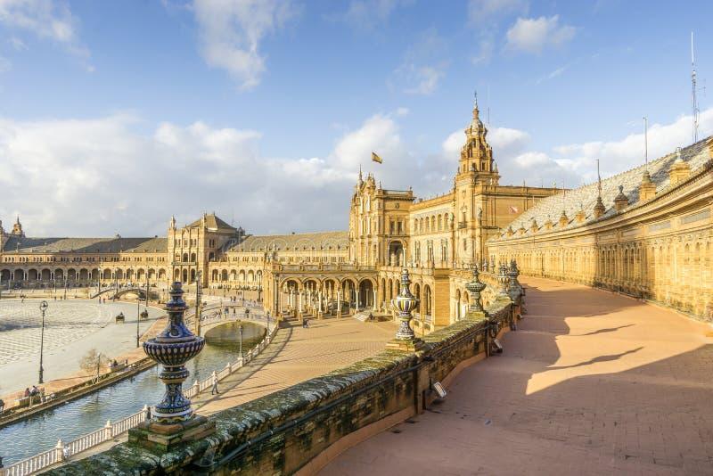 Place ou Plaza de Espana, Séville, Andalousie, Espagne de l'Espagne photographie stock libre de droits