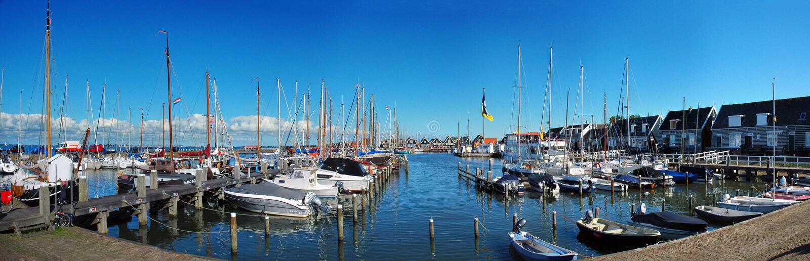 Place of peace, Marine of Marken, Netherlands. For some time during the later 19th and early 20th centuries, Marken and its inhabitants were the focus of royalty free stock photography