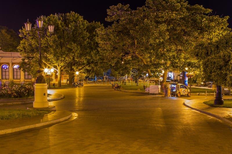 Place près d'Odessa National Academic Theater d'opéra et de Ba images libres de droits