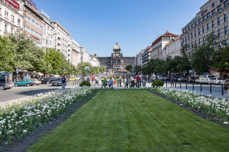 Place Prague, République Tchèque de St Venceslao photo libre de droits
