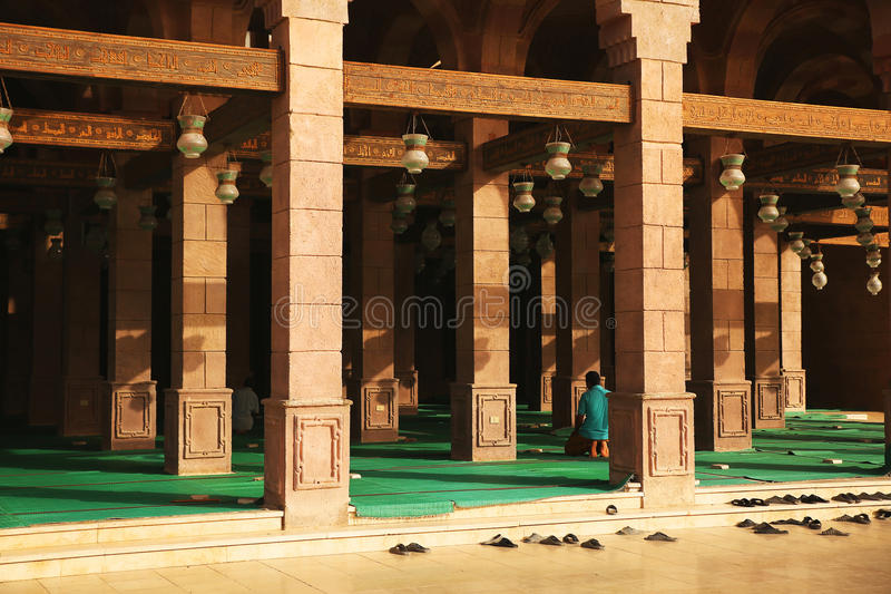Place for Prayer in Mosque Al-Mustafa. Sharm El Sheikh. Egypt stock photos