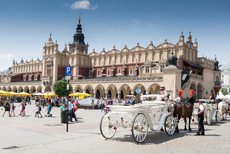 Place principale, Cracovie photo stock