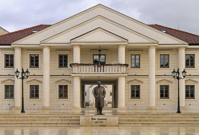 Place principale d'Andricgrad à Visegrad photographie stock libre de droits