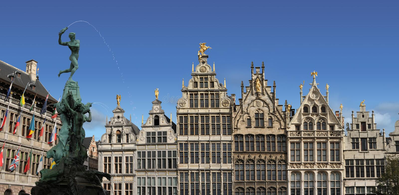 Place principale d'Anvers, Belgique. photographie stock libre de droits