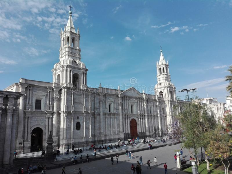 Place principale d'Arequipa photo stock