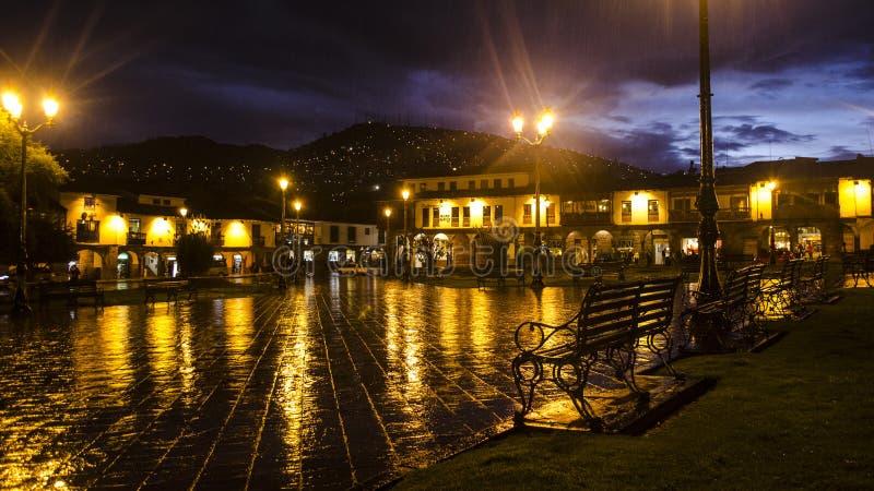 Place principale de Cusco photographie stock