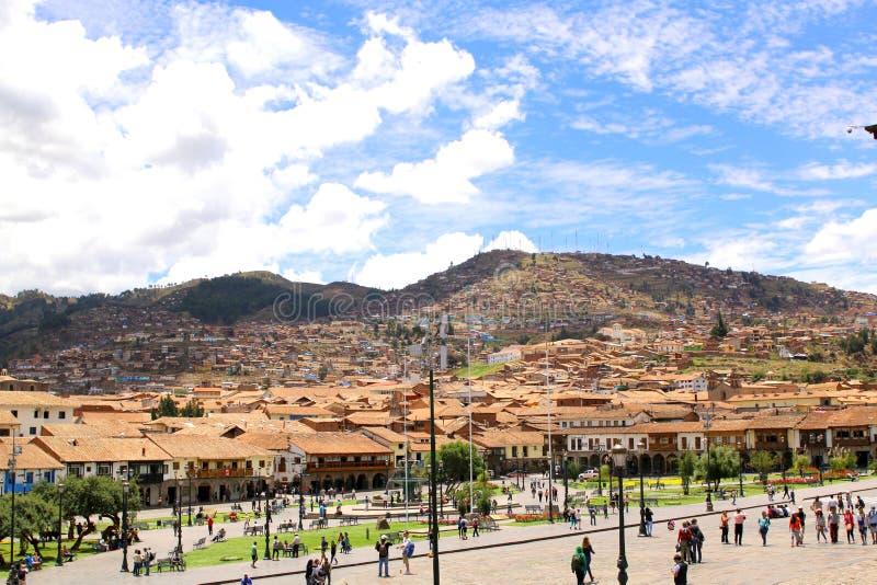 Place principale de Cuzco Plaza de Armas images stock