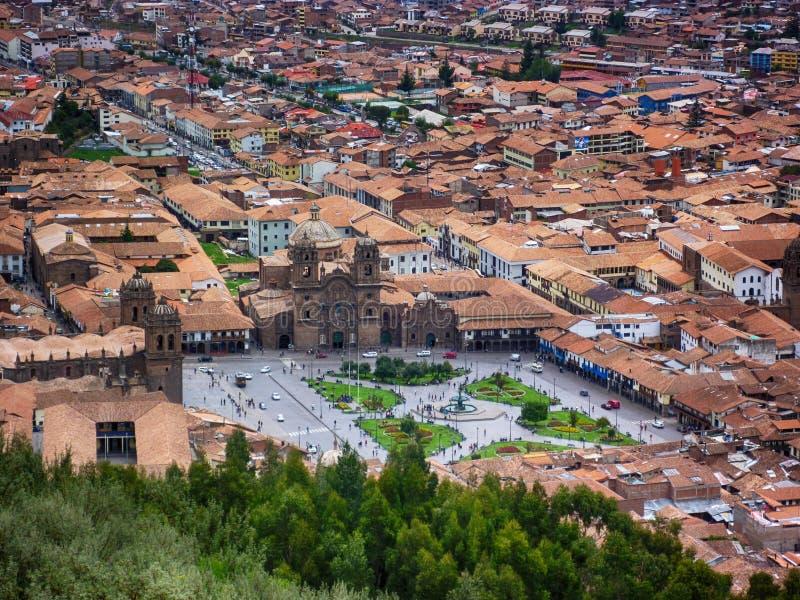 Place principale du Cusco image stock
