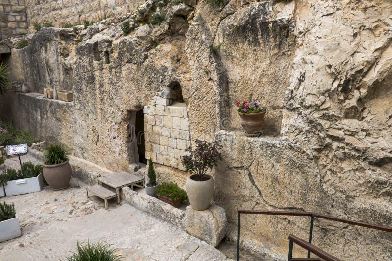 Jesus christ tomb israel stock photography