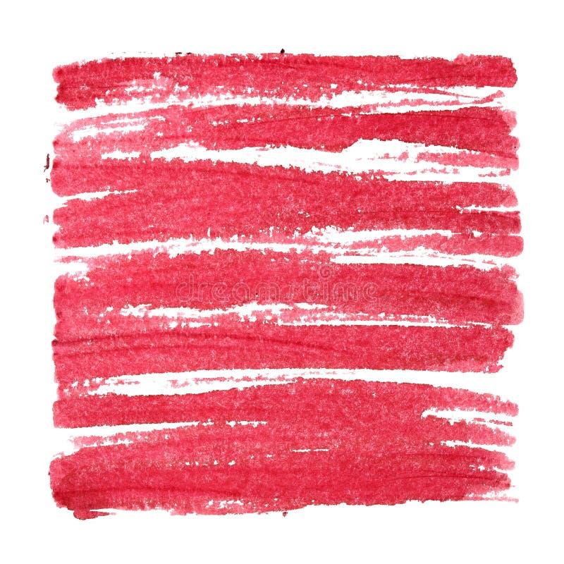 Place rouge avec des courses de brosse photo libre de droits
