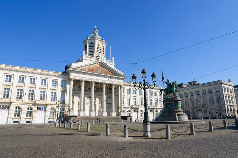 Place Royale in Brussels, Belgium. Place Royale in Brussels. Brussels is the capital of Belgium and the de facto capital of the European Union (EU royalty free stock photos
