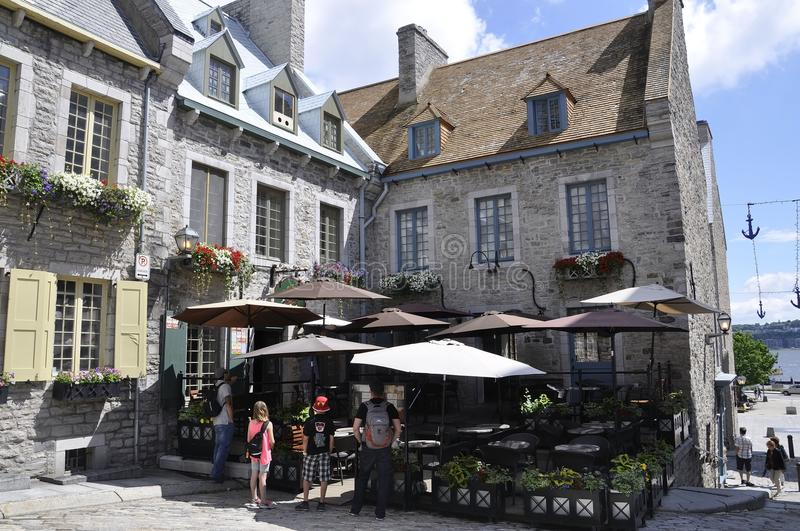 Quebec, 28th June: Place Royale from Old Quebec City in Canada stock photos