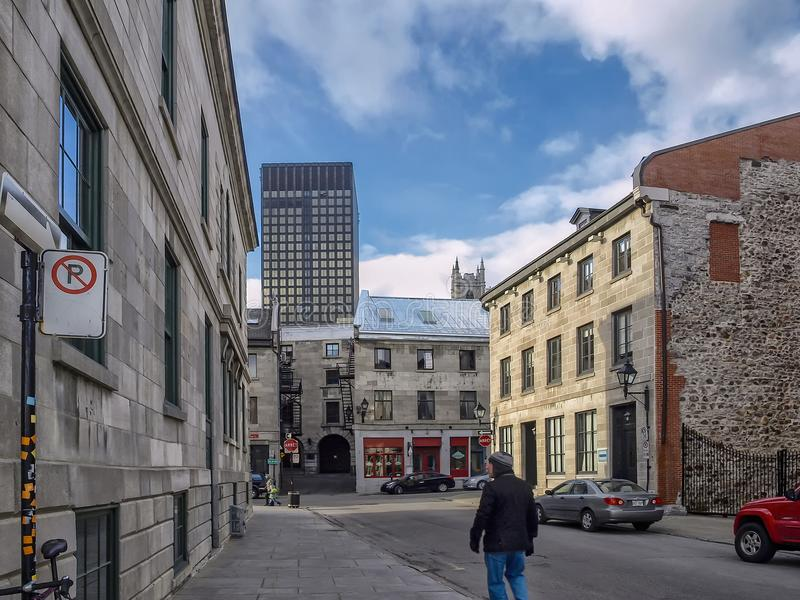 Place Royale Montréal. Place Royale is a former public square in Montreal, today almost disappeared by the expansion of the customs building and the urban royalty free stock photo