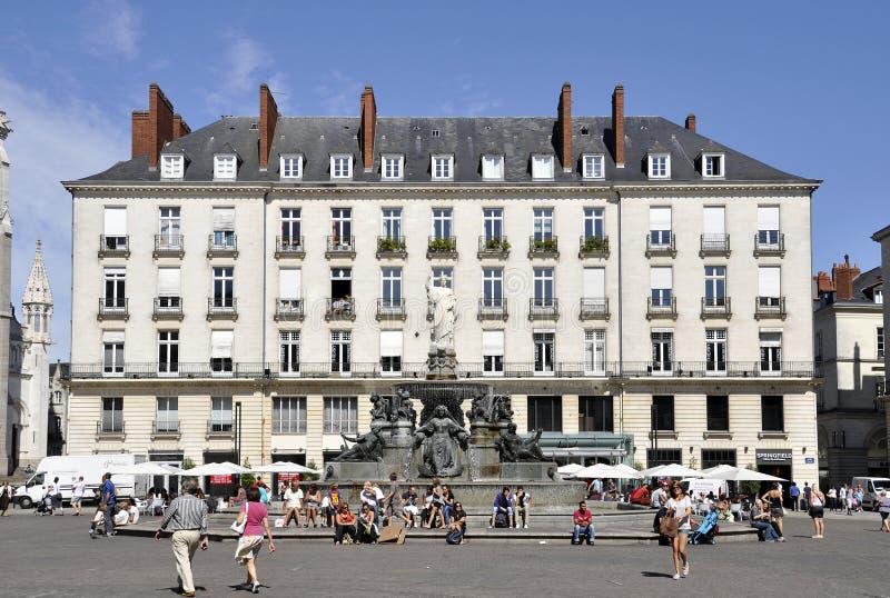 Place Royale in Nantes, Frankreich stockbilder