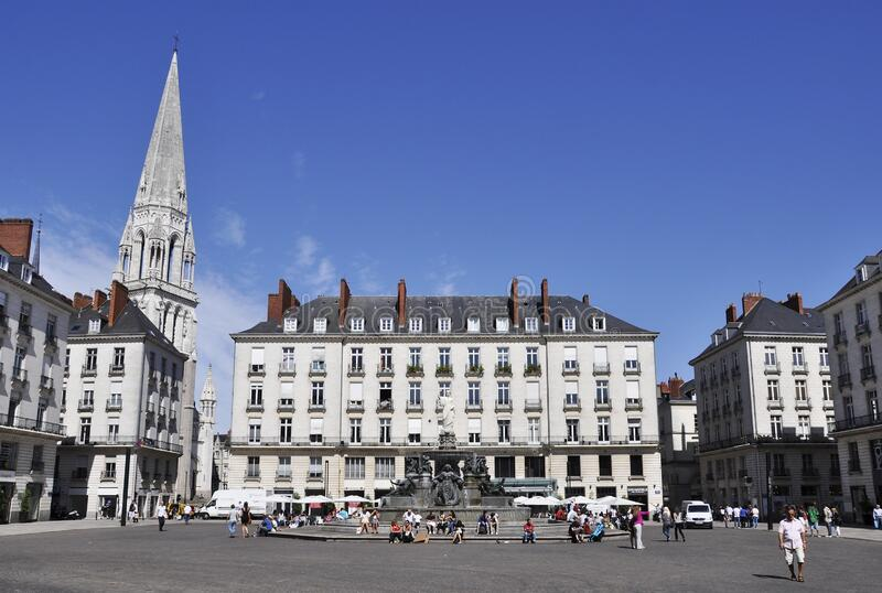 Place Royale in Nantes, Frankreich lizenzfreies stockfoto