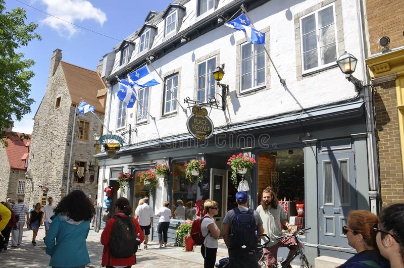 Quebec, 28th June: Place Royale from Old Quebec City in Canada. Place Royale from Old Quebec City in Canada on 28th june 2017 stock image