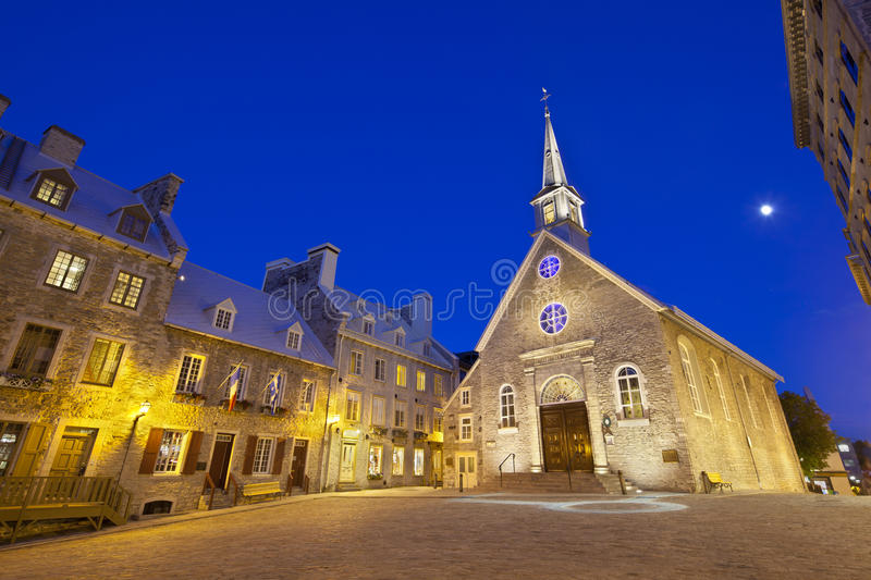 Place Royale in Quebec City, Canada stock images