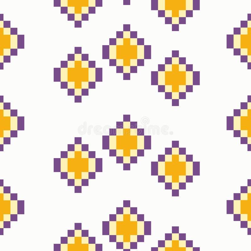 Place sans couture avec des pixels illustration stock