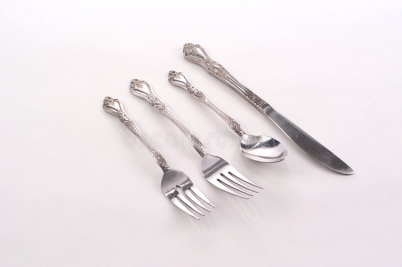 Download Place setting stock photo. Image of silverware, spoon, knife - 21920