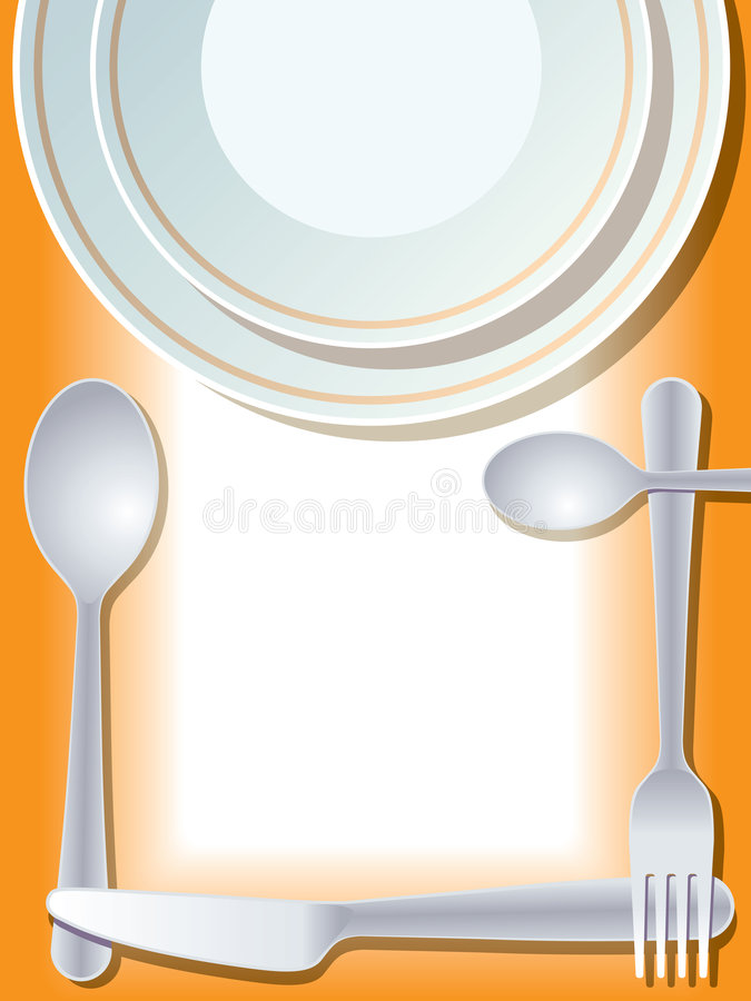 Place setting vector illustration