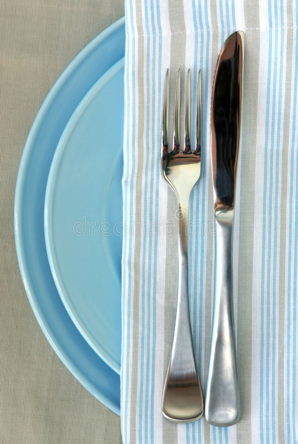 Download Place Setting stock image. Image of napkin, plates, textured - 3916371