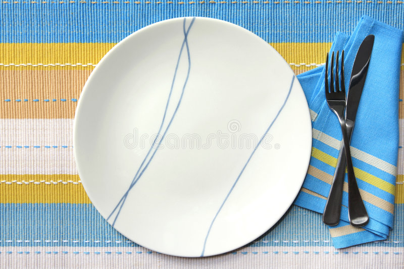 Download Place Setting stock photo. Image of white, knife, yellow - 4953814