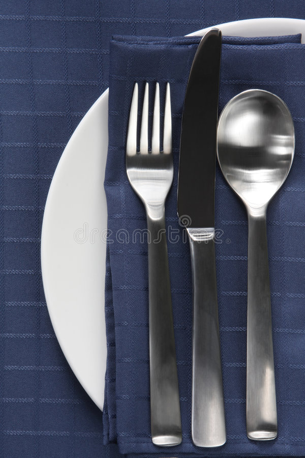 Download Place Setting stock image. Image of navy, napery, drink - 5762405