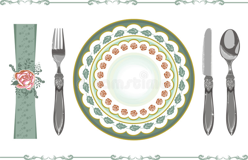 Place setting royalty free illustration