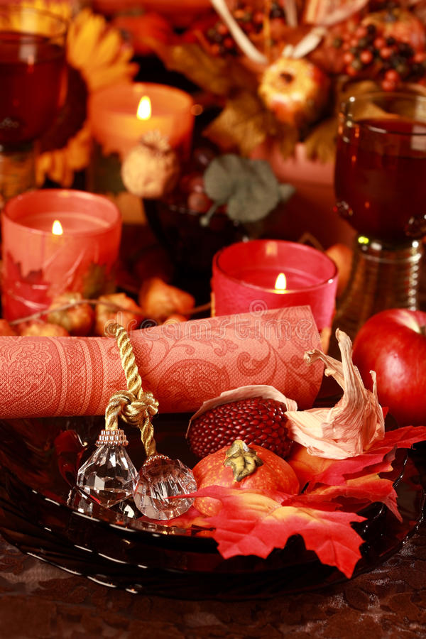Free Place Setting For Thanksgiving Royalty Free Stock Photo - 15404525