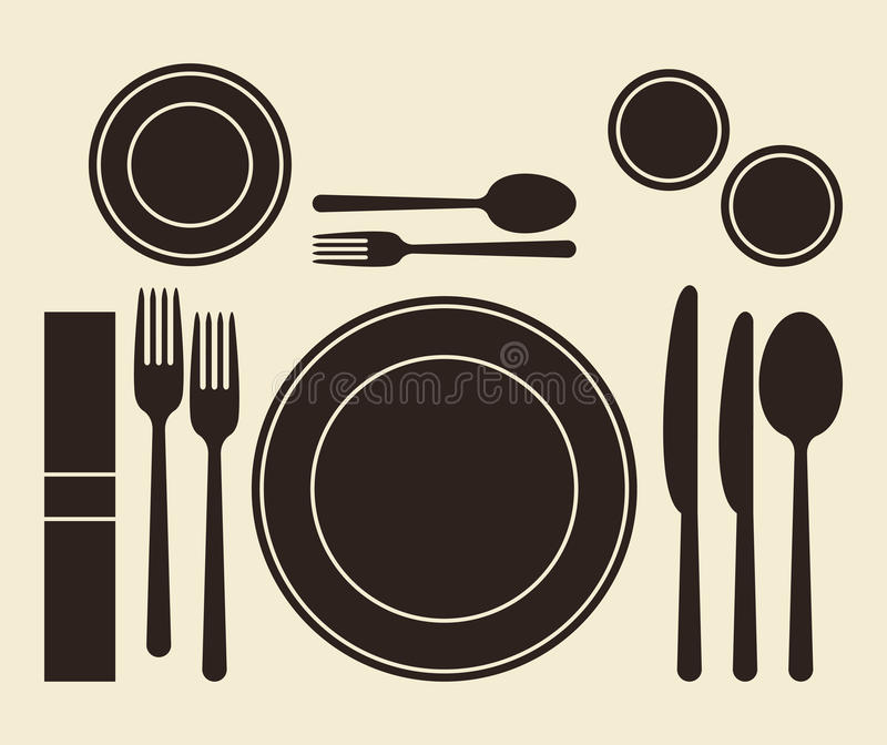 Download Place setting stock vector. Illustration of glass, dessert - 32161418