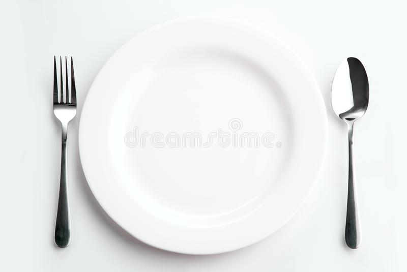 Download Place Setting With Plate Spoon And Fork Stock Image - Image of kitchen & Place Setting With Plate Spoon And Fork Stock Image - Image of ...