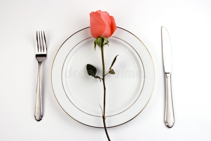 Download Place Setting with Rose stock photo. Image of elegant - 1833888