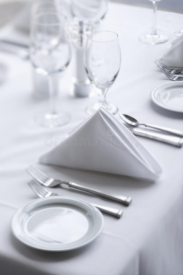 Download Place Settings On Dining Table Stock Photo - Image: 12753656