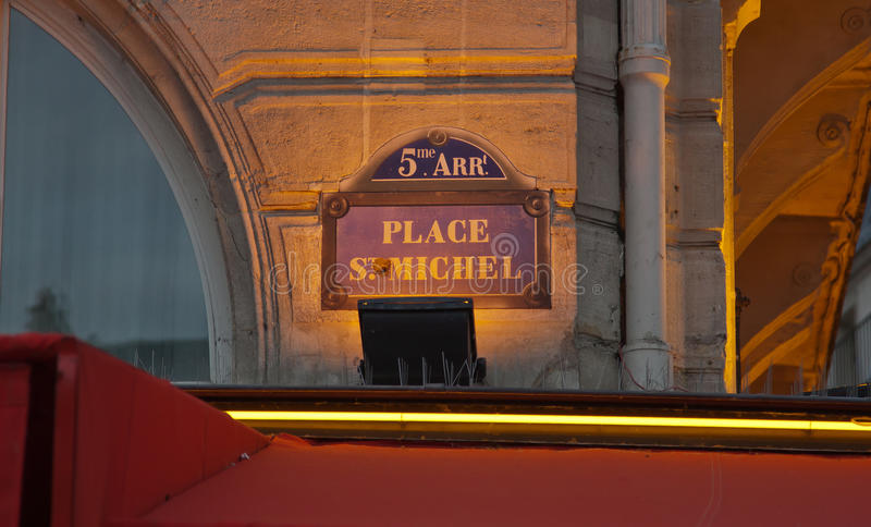 Place St. Michel stock photography