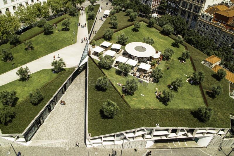 Place suspendue au centre de Lisbonne photo libre de droits
