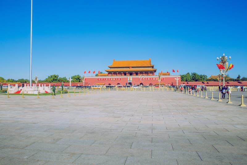 Place Tiananmen, Chine, automne 2016 photos libres de droits