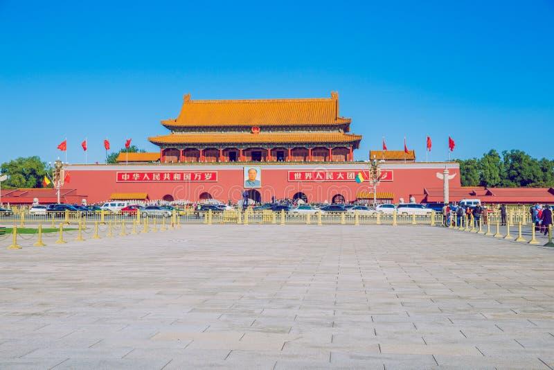 Place Tiananmen, Chine, automne 2016 Photo de voyage photographie stock libre de droits